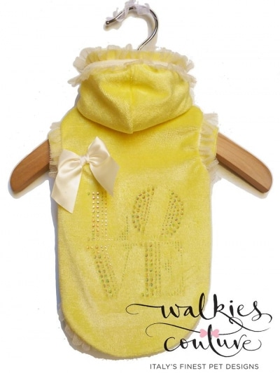 "Walkies Couture ""Love lemon sweat"" pull pour chien"
