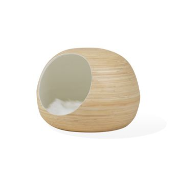 Dandy Ball, cocon pour chat fabrication artisanale blanche