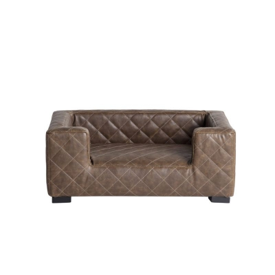 Lord Lou Edoardo marron, Sofa canapé luxueux imitation cuir