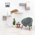 Cat walk, mobilier arbre à chat griffoir mural pour chat