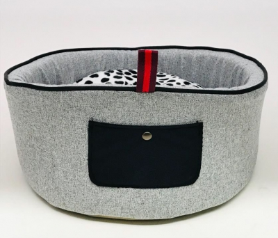 Cato, panier corbeille ronde pour chien et chat made in Italy